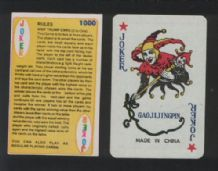 2 different Collectible joker from playing cards #203